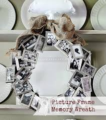 view in gallery picture frame memory wreath polaroids