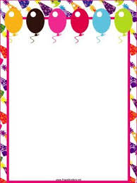 Party Borders For Invitations This Free Printable Party Border Features Festive Hats And