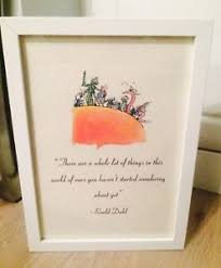 Roald Dahl Quotes Inspiration James The Giant Peach Roald Dahl Vintage Quote Art Print Unframed