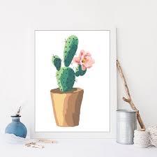 print garden flower pot fl wall art