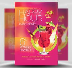 Happy Hour Flyer Minimal Happy Hour Flyer Template Flyerheroes