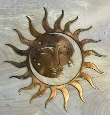 woodland imports metal sun and moon