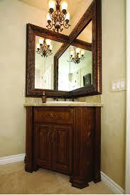 vintage bathroom vanity mirror. Peasureable Corner Bathroom Vanity Mirror With Wooden Door Cabinets As Vintage Sink Also Bronze Faucet In Traditional Decors I