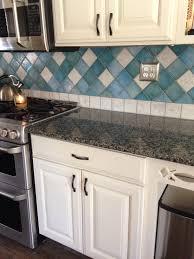 Caledonia Granite Rustoleum Quilters White Cabinet Finish Blue