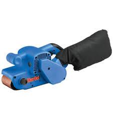 hand belt grinder. clarke bs1 - 900w belt sander (230v) hand grinder