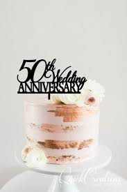 50th Wedding Anniversary Cake Topper Quick Creations