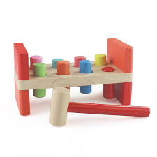 details about montessori wooden pounding bench with mallet for toddlers