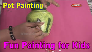pot painting painting techniques for kids painting tutorials for beginners you