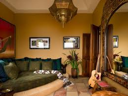 Interior:Modern Living Room Moroccan Style With Unique Ceiling Lamp And  Cozy Seating On Brown