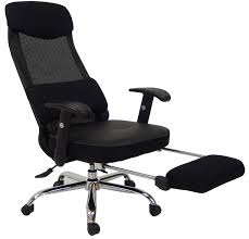 desk chair footrest.  Desk Mesh Back Reclining Office Chair W Footrest And Desk S