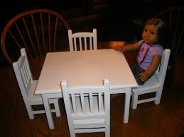 TEMPORARILY SOLD OUT Table with 4 Chairs Set for 18 inch Doll