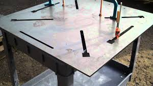 3 8 thick welding table with laser cut clamp slots you rh you com