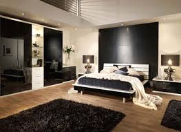 apartment bedroom room decor interior awesome black white wood modern design amazing