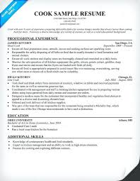 lead cook resume sample lofty design cook resume skills sample cook resume  line prep and samples
