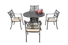 aluminium garden furniture solid metal patio sets aluminium round table
