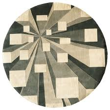 new wave contemporary round rug 5 ft 9 in dia concrete contemporary area rugs by ladder