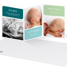 twin birth announcements photo cards triplets twins birth announcements custom designs from pear tree