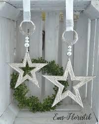 Fensterdeko Weihnachten Alu Hänger Stern Offen 15 Cm Weiß