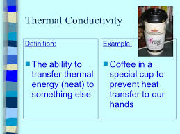 conductivity definition science. 3. thermal conductivity definition science n