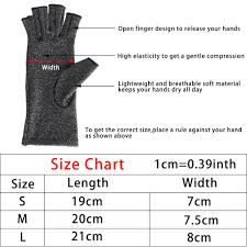 Bowling Glove Size Chart Us 2 92 22 Off Size S M L Women Men Hands Arthritis Gloves Cotton Therapy Compression Gloves Circulation Grip Hand Arthritis Joint Pain Relief In