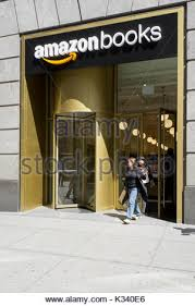 The recently opened Amazon Book Store on W 34th Street in