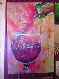 abstract wine painting
