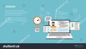 Webinar Design Flat Style Template Design For Online Webinar Online