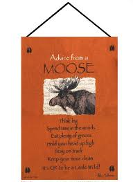 advice from a moose true nature tapestry wall hanging