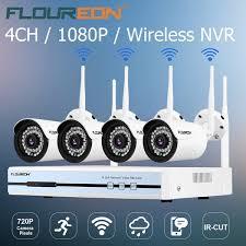 <b>Floureon 4CH Wireless CCTV</b> 1080P DVR Kit Outdoor Wifi WLAN IP ...