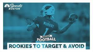 Fantasy Football Rankings 2019 Rookies To Target Avoid In