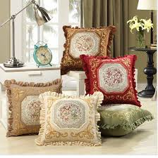 Small Picture Luxurious Embroidery Velour Home Decor Cushion Decoration Lace