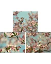 pink dogwodd tree branch and flowers photography prints bedroom wall art set of 3 pictures on chic wall art set with hot deals 20 off pink dogwodd tree branch and flowers photography