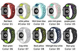 apple nike watch series 2. soft silicone sport band for apple watch series 2 replacement strap iwatch nike brand luxury watchs strap-in watchbands from watches on