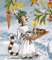 Pettson och Findus som Sankta Lucia | Illustration, Vintage illustrationer,  Teckningar