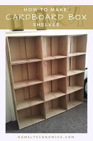 diy cardboard box shelf diy do it your self