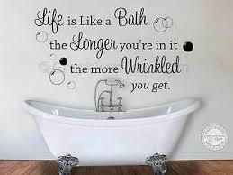 bath wrinkled wall art decor decal
