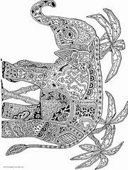 We draw animals for colouring almost daily. 100 Animal Coloring Pages For Adults Difficult