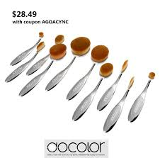oval makeup brush amazon. $28.49 with coupon agoacync, new launched docolor silver cosmetic oval makeup brush set - buy amazon t