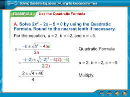 9 example 2 use the quadratic formula