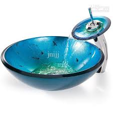 2018 bathroom tempered glass vessel vanity print color sink bowl with faucet mx72 from jnijj 170 86 dhgate com