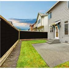 boen 4 ft x 50 ft black privacy fence
