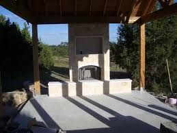 image of prefab outdoor fireplace oven