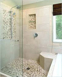 pebble stone shower floor tile cleaning donnerlawfirmcom stone shower floor best grout for stone shower floor