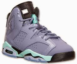 jordan shoes for girls black and purple. girl\u0027s air jordan 6 retro gs iron purple/bleached turquoise-black release reminder shoes for girls black and purple
