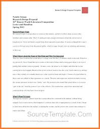Research Proposal Template Extraordinary Research Design Proposal Template