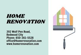 Home Renovation Business Card Template Matograph Studio