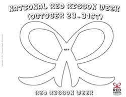 Red Ribbon Color Pages Red Ribbon Campaign Downloads