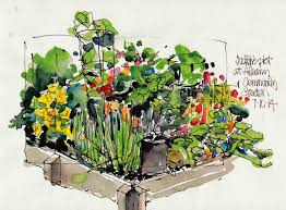 Small Picture Community garden sketch sketches and more Pinterest Sketches