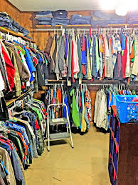 the men s room of the hempstead county closet provides clothing to boyen in need of a new shirt or warm jacket for the winter