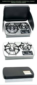 2 burner propane camping cooktop outdoor gas stove single
